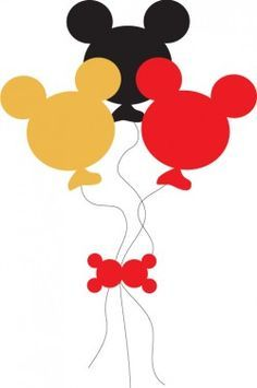 Mickey More Balloons, Mickey Mouse, Party Decorations - Free Printable Ideas from Family Shoppingbag.com
