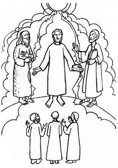 Matthew 17 The Transfiguration Sunday School Coloring ...