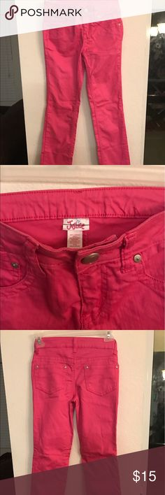 Justice for girls pink jeans. NWOT Took tags off for my niece to wear them while visiting us on vacation. Size 10r Justice Bottoms Casual