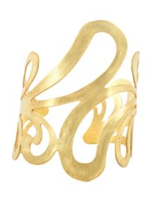 Scroll Cuff in Soft Brass by Sam DuPont