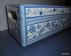 Hobby- mój Decoupage / skrzynka na kwiaty w doniczce// Hobby- my Decoupage / flower box in a pot