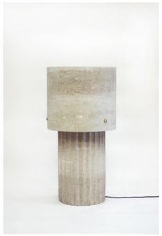 Max Lamb . large Portland limestone lamp, 2014
