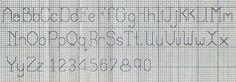 Schema punto croce: alfabeti e numeri a punto scritto