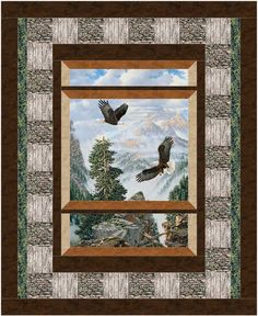 Bird's Eye View Quilt Pattern BS2-445 (advanced beginner, lap and throw)