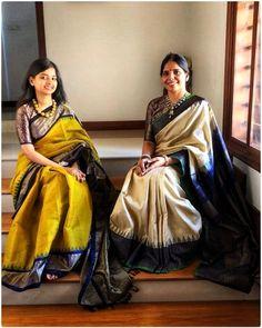 How to Select the Best Modern Saree for You? Kanchipuram Saree, Handloom Saree, Indian Dresses, Indian Outfits, Indian Silk Sarees, Ethnic Sarees, Modern Saree, Stylish Sarees, Saree Look