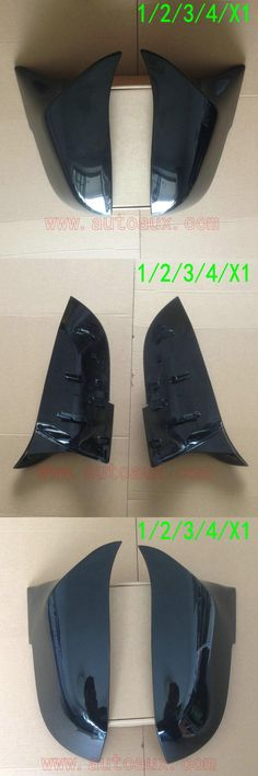 [Visit to Buy] 2015  F32 F35 Black Glossy  Rear View Side Mirror Cases replace fit BMW 1 2 3 4 series GT X1 F20 F30 ( looks like M3 M4 style) #Advertisement