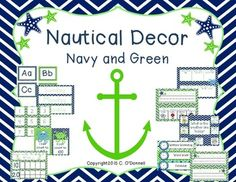 Here is a classroom decor set specifically for a nautical themed classroom! This pdf and pp file has everything you need to decorate your room! To see more pictures and my plans to use this decore please visit my blog here:The crazy Pre-k classroom blog postThis file also contains a power point file with editable pieces so you can customize the lettering and add pictures/clip art.Included are:Welcome bannerMonths of the yearDays of the week3 sets of calendar numbers (for patterning)Schedule…