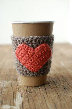 Tasse à café cosy Crochet manches café cosy café par thecozyproject