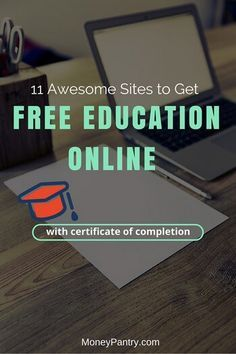 Take online courses for free and get a certificate on these sites.