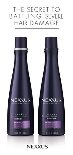Infused with an exclusive PROTEINFUSION blend with Keratin Protein and Black Rice, Nexxus Keraphix Conditioner For Damaged Hair features a complex that's rich in protein and nutrients - it's everything you need to battle visible signs of damage due to col Keratin, Natural Hair Care, Natural Hair Styles, Natural Beauty, Natural Curls, Organic Beauty, Damaged Hair Repair, Protein, Hair Shampoo