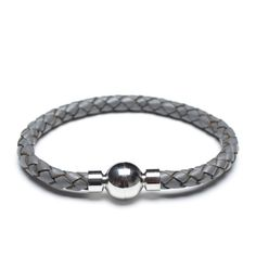 wholesale grey leather cord bracelet 00482