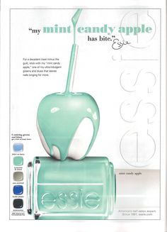 New Essie Colors Mint Candy Apples, Essie Colors, Nail Colors, Usa Nails, America Nails, Mini Facial, Apple My, Essie Nail Polish