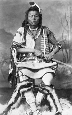 Blackfoot warrior. 1887. Photo by Alexander J. Ross.