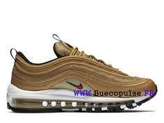 buy cheap fb8c2 ef810 Chaussures Nike Air Max 97 Femme Pas Cher Prix Classique Or blanc  884421 700-Nike hommes
