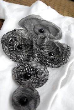 lovely fabric flowers