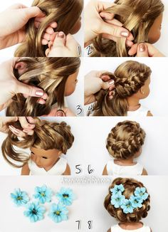 American Girl Doll Hairstyle Circle Braid