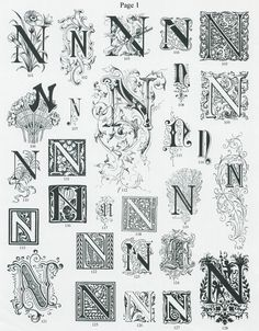 Letter N | Single Letter Ornate