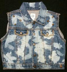 Custom Distressed Denim Jacket Vest- Ripped Vest- Kids Birthday Vest- Baby Girl- Baby Boy- Newborn- Infant- Toddler- Kids Fashion Clothes by DivineUnlimited on Etsy