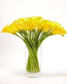 Calla Lily Arrangement  These tender calla lilies make a stunning arrangement that adds beauty to any room.