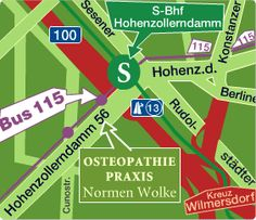 Osteopathie Praxis Berlin Map