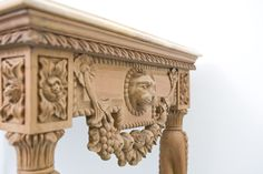 Heavily Carved Hall Table By Dutch Connection