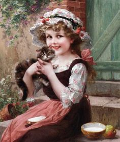 ❤ Vintage Art Poster Print! ☮~ღ~*~*✿⊱╮ レ o √ 乇 !! - Children by Emile Vernon (1872-1919 English)