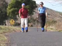 NORDIC WALKING - An Introduction & How To! I like this instruction for beginners. It prgresses slowly & explains muscle use. This is how I learned. Wellness Fitness, Physical Fitness, Health And Wellness, Walking Videos, Leslie Sansone, Walking Program, Walking Poles, Nordic Walking, Bone Density