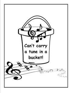 It's Southern . . .yep, except we'd say: 'Can't carry a tune in a LARD bucket!'....lol!