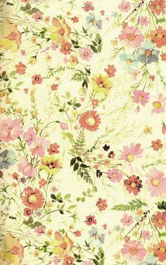 レトロモダンな花柄のテクスチャ3枚 < オールドペーパー < カテゴリ別一覧 - Retrofan