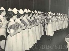 Student Nurses at Student Government Tea, c1950, PGH Collection. Image courtesy of the Barbara Bates Center for the Study of the History of Nursing.