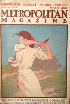 Metropolitan Magazine Aug 1906 Lady Golfer  cover