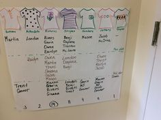 During their recent clothing study, children at Sunshine House 198 in Mauldin, SC created this graph to show clothing patterns over time.