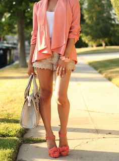 Loving this outfit -- especially the shorts + I have a similar LV bag! #win