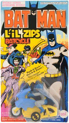 .1970s AHI rack toy Batcycle.