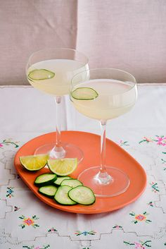 Brighton beachcomber 2 ounces blanco tequila 2 ounces coconut water 1 ounce ginger liqueur (Canton works well) 1/2-1 ounce lime juice (to taste) 4 thin slices cucumber (1 slice for garnish)