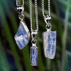 Divine Alignment Blue Kyanite Pendants for balance and wisdom Raw Gemstone Jewelry, Raw Crystal Jewelry, Gems Jewelry, Boho Jewelry, Best Vibrators, Crystals And Gemstones, Platform Beds, Pendants, Queen Size
