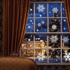 Moon Boat 121 pcs Window Clings Wall Stickers Decal - White Snowflakes/Baubles/Bells - Christmas New Year Decorations Xmas Ornaments -- You can get additional details at the image link. (This is an affiliate link) Christmas Decals, Christmas Window Decorations, New Years Decorations, Xmas Ornaments, Christmas Diy, Christmas Windows, White Christmas, Snowflake Decorations, Christmas Store