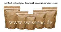 Kraft braunen Papiertüten mit Reißverschluss und ovales Fenster  #standbodenbeutel http://www.swisspac.de/standbodenbeutel/