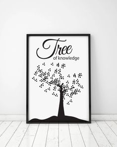 Tree of knowledge, Housewarming Gift, Home decor, Gift idea, Digital Posters, Art Posters, Tree, Science, Tree cards, Knowledge cards by MerryGallery on Etsy Art Posters, Poster Prints, Triptych, True Love, House Warming, Art Pieces, Knowledge, Science, Digital