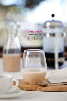 Tasty homemade Irish cream drink that can be whipped up in minutes.