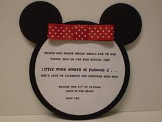 Mickey Mouse 2nd Birthday Invitation Wording