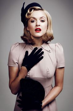 Image 40 Although this is not 1940s glamour I love the glossiness of the red lipstick and I will hopefully be using a gloss in my final design.