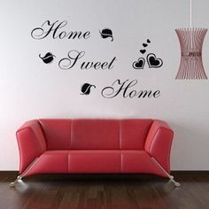 $3.92  - Click Down DIY Sweet Home Quote Wall Paper Art Vinyl Decal Sticker *** You can get more details by clicking on the image. (This is an affiliate link) #WallStickersMurals