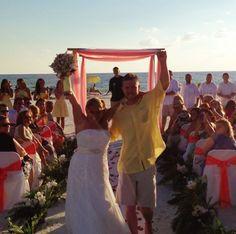 Beach wedding at Sea Shells Condo on Siesta beach Florida