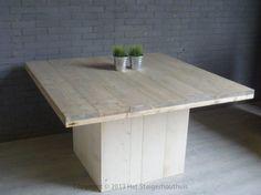 steigerhouten tafel...