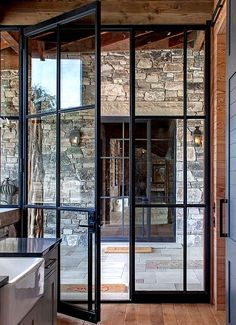 Add architectural interest: French door styles and ideas in the . - Add Architectural Interest: French Door Styles and Ideas in … Add Architectural Interest: French - Crittall, French Doors Patio, French Windows, Exterior French Doors, Steel Exterior Doors, Black Windows, Modern Patio Doors, Modern Windows And Doors, Exterior Patio Doors