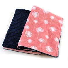Coral Flower Burp Cloths,  set of 2 Minky // Ready to ship / Minky Burp Cloth / Baby Shower Gift / Navy Coral Burp Cloth by Sewingdreamsnotions on Etsy