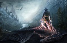 Wallpaper art, the elder scrolls v, skyrim, dovahkiin, dragons, warrior, soul wallpapers games - download