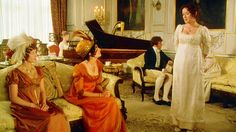 Bingley's sisters question Lizzy, Pride and Prejudice, 1995