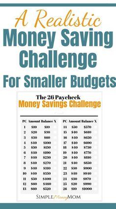 This is not your average money savings challenge. Designed for smaller and tight… This is not your average money savings challenge. Designed for smaller and tighter budgets, you can rest assured that you will accomplish your money savings goal. Savings Challenge, Money Saving Challenge, Money Saving Tips, Saving Ideas, Money Savers, Money Tips, No Spend Challenge, Money Budget, Faire Son Budget